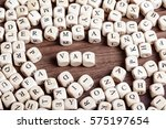 word vat in letters on cube...   Shutterstock . vector #575197654