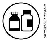medicine bottle isolated icon | Shutterstock .eps vector #575198689