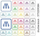 connect color flat icons in... | Shutterstock .eps vector #575209384