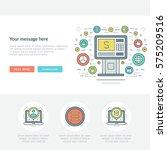 flat line business concept web... | Shutterstock .eps vector #575209516
