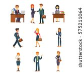 business people man and woman... | Shutterstock .eps vector #575211064