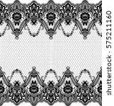 seamless lace pattern  flower...   Shutterstock .eps vector #575211160