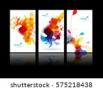 set of abstract colorful splash ... | Shutterstock .eps vector #575218438