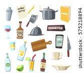 set of kitchen equipment.... | Shutterstock .eps vector #575218894