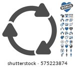 rotate cw pictograph with bonus ... | Shutterstock .eps vector #575223874