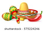 an illustration of mexican... | Shutterstock .eps vector #575224246