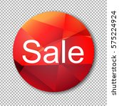 red sale label  | Shutterstock . vector #575224924