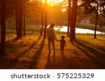 mom playing with her child...   Shutterstock . vector #575225329