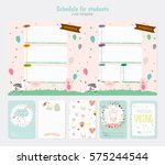 cute weekly planner template..... | Shutterstock .eps vector #575244544