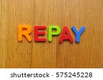 Small photo of Repay word