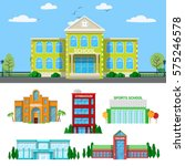 architectural school and... | Shutterstock .eps vector #575246578