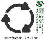 rotate cw pictograph with bonus ... | Shutterstock .eps vector #575247040