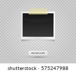 vintage photo frame sticked on... | Shutterstock .eps vector #575247988