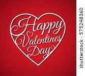 happy valentine's day greeting... | Shutterstock .eps vector #575248360