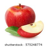 isolated apples. whole red... | Shutterstock . vector #575248774