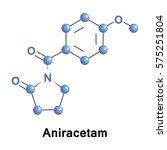 aniracetam is an ampakine...   Shutterstock .eps vector #575251804