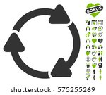rotate cw icon with bonus... | Shutterstock .eps vector #575255269
