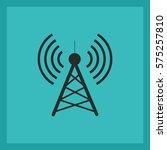 antenna.vector icon. radio... | Shutterstock .eps vector #575257810