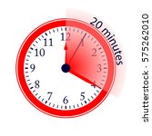clock 20 minutes to go vector... | Shutterstock .eps vector #575262010