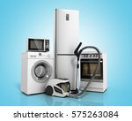 home appliances group of white... | Shutterstock . vector #575263084