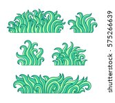 vector illustration  grass  set ... | Shutterstock .eps vector #575266639