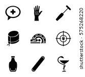 medicine icon. set of 9... | Shutterstock .eps vector #575268220