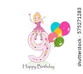 Happy Ninth Birthday Greeting...