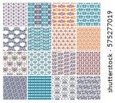vector set of various patterns... | Shutterstock .eps vector #575277019