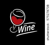 vector wine logo | Shutterstock .eps vector #575278738