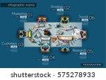 ideal workspace for teamwork... | Shutterstock .eps vector #575278933