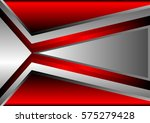 Vector Red And Gray Abstract...