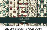 vector set of various seamless... | Shutterstock .eps vector #575280034