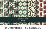 vector set of various seamless... | Shutterstock .eps vector #575280130