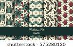 vector set of various seamless... | Shutterstock .eps vector #575280130