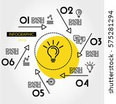yellow linear infographic star... | Shutterstock .eps vector #575281294