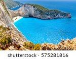 navagio beach and shipwreck ... | Shutterstock . vector #575281816