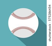 softball ball icon. flat... | Shutterstock .eps vector #575286454