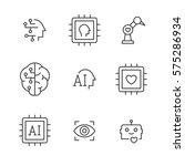 artificial intelligence vector... | Shutterstock .eps vector #575286934