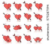vector icon set of various... | Shutterstock .eps vector #575287594