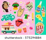 pop art fashion chic patches ... | Shutterstock .eps vector #575294884