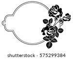 black and white round frame... | Shutterstock . vector #575299384