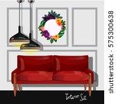set of vector interiors with... | Shutterstock .eps vector #575300638