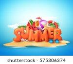 summer day vector design of 3d... | Shutterstock .eps vector #575306374