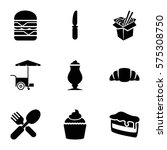 fastfood icon. set of 9...   Shutterstock .eps vector #575308750
