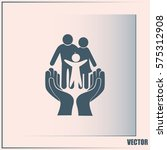 family life insurance sign icon.... | Shutterstock .eps vector #575312908