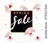 """spring sale"" hand written... | Shutterstock .eps vector #575317264"