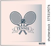 tennis icon | Shutterstock .eps vector #575319076