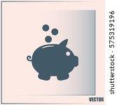 vector illustration of piggy... | Shutterstock .eps vector #575319196