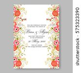 wedding invitation with red... | Shutterstock .eps vector #575323390