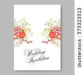 wedding invitation with red... | Shutterstock .eps vector #575323513